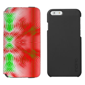 Festive Red Green Fractal iPhone 6/6s Wallet Case