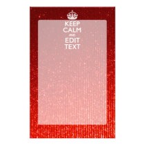 Festive Red Keep Calm for Your Text Stationery