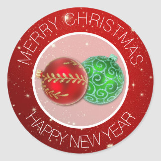 Merry Christmas Envelope Seals Stickers | Zazzle