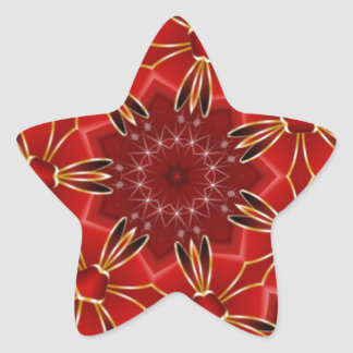 Festive Red Star Stickers