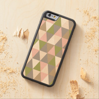 Festive Retro Geometric Wood iPhone 6 Carved Maple iPhone 6 Bumper Case