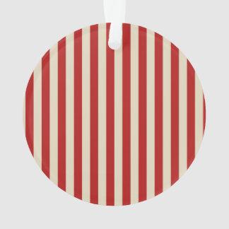 Festive Retro Vintage Vertical PopCorn Stripes Ornament