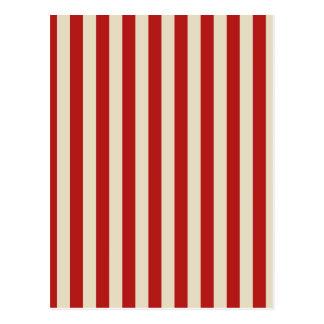 Festive Retro Vintage Vertical PopCorn Stripes Postcard