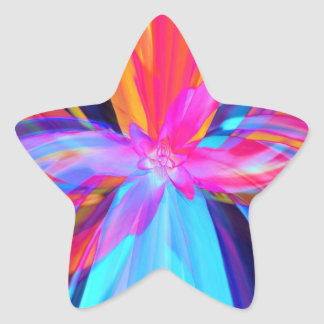 Festive ribbons! star sticker