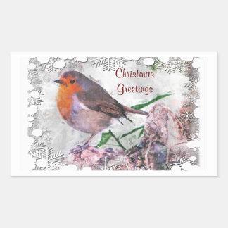 Festive Robin Stickers