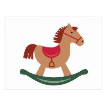 Festive Rocking Horse Postcard