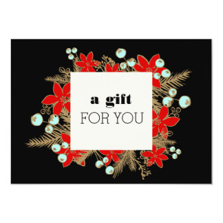 Festive Salon and Spa Holiday Gift Certificate 4.5x6.25 Paper Invitation Card