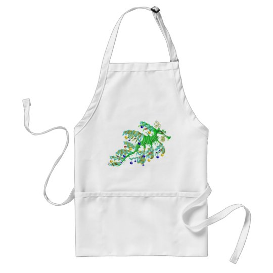 Festive Sea Dragon Adult Apron