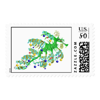 Festive Sea Dragon Christmas Postage