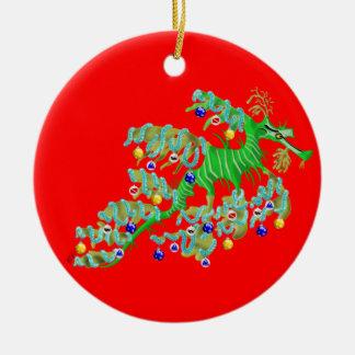 Festive Sea Dragon Ornament