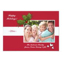 Festive Season Holiday Photo Card