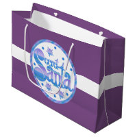 Festive secret Santa Holiday gift bag