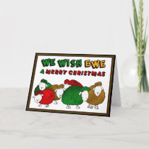 Festive Sheep Holiday Card