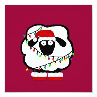 Festive Sheep Invitation