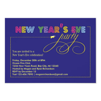 Festive Sign New Year's Eve Party Invitation