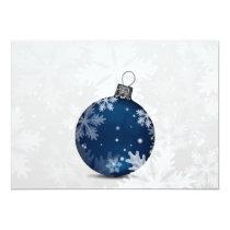 festive silver navy blue Christmas holidays card