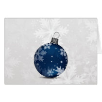festive silver navy blue Corporate Christmas Card