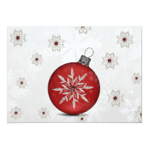 festive silver red Business holidays card