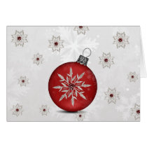 festive silver red Corporate Christmas Card
