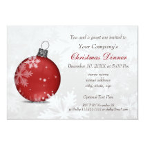 Festive Silver Red Corporate Holiday party Invite
