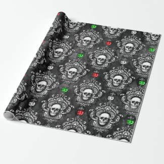 Festive Skull Wrapping Paper