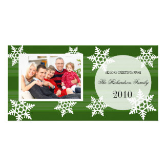 Festive Snow Fall Holiday Family Photo Cards