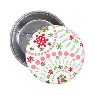 Festive Snowflake Flurry Pinback Button