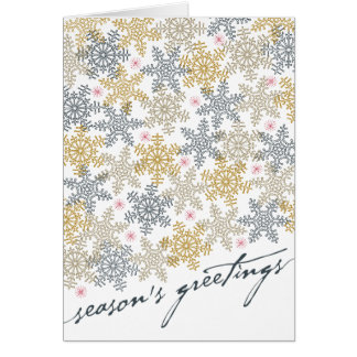 Festive Snowflakes Greeting Card