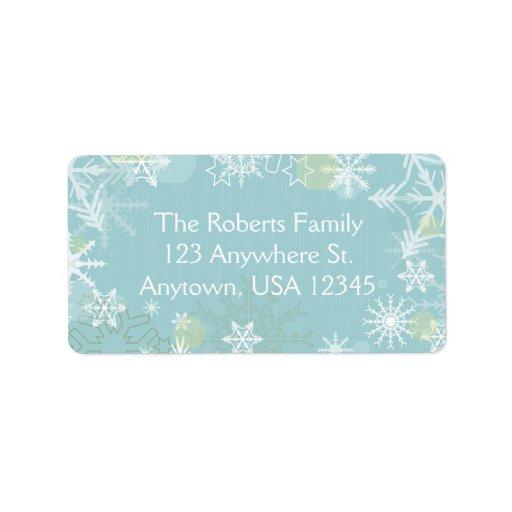 Festive Snowflakes Labels