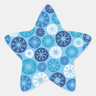 Festive Snowflakes Star Stickers