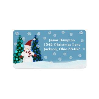 Festive Snowman Address Labels