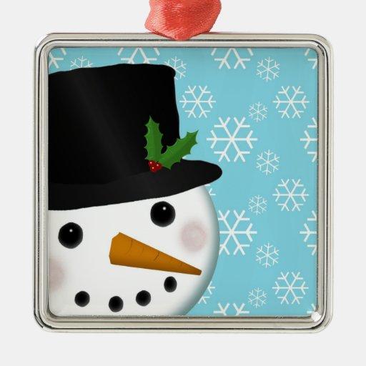 Festive Snowman Holiday Ornament