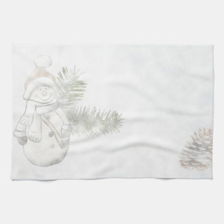 Festive Snowman Holidays Kitchen Towel