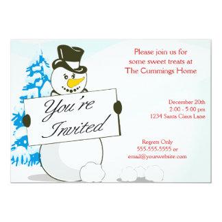 Festive Snowman Invitation