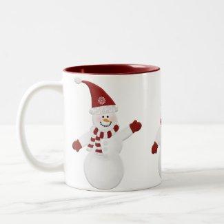Festive Snowman Mug mug