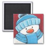 Festive Snowman Refrigerator Magnet