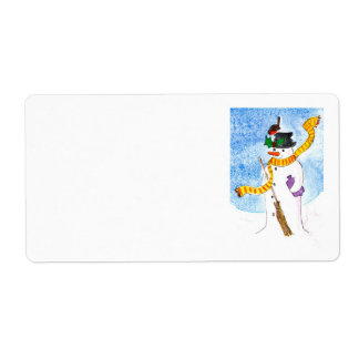 Festive 'Snowman' Shipping Labels
