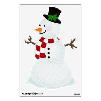 Festive Snowman Wall Decal