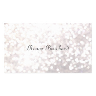Festive Soft White Glitter Bokeh Event Planning Double-Sided Standard Business Cards (Pack Of 100)