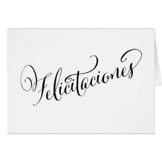 Festive Spanish Congratulations Felicitaciones Card