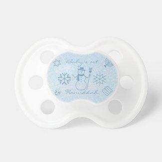 Festive Sparkle Baby's First Hanukkah BooginHead Pacifier