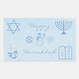 Festive Sparkle Custom HANUKKAH Holiday Rectangular Sticker