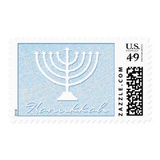 Festive Sparkle Custom HANUKKAH MENORAH Holiday Stamp