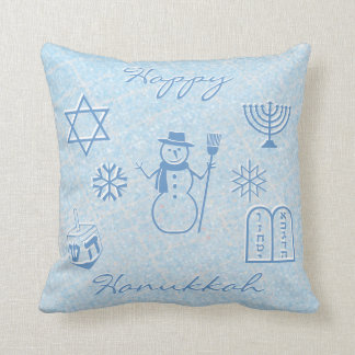 Festive Sparkle HANUKKAH Throw Pillow