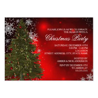 Festive Sparkle Xmas Tree Christmas Party Invite