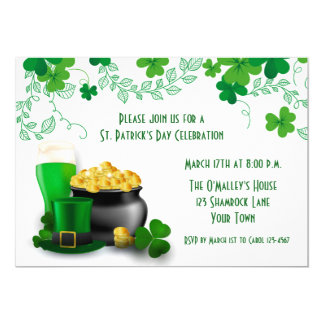 Festive St. Patrick's Day Party Card