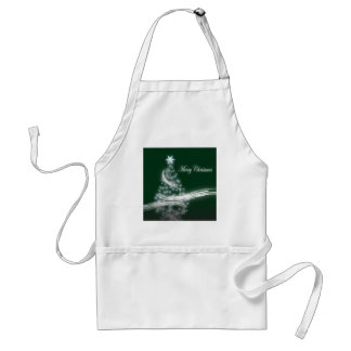 Festive Star Chic Christmas Evergreen Adult Apron