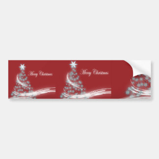 Festive Star Chic Christmas Evergreen Bumper Sticker
