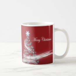 Festive Star Chic Christmas Evergreen Coffee Mug