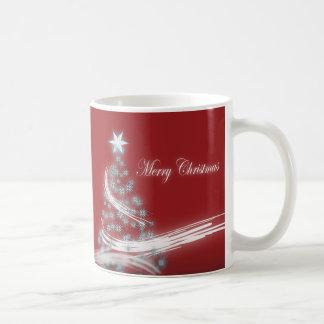 Festive Star Chic Christmas Evergreen Coffee Mug